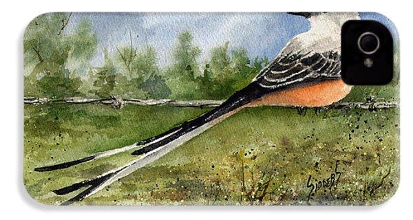 Scissor-tail Flycatcher IPhone 4 Case by Sam Sidders