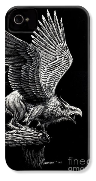 Screaming Griffon IPhone 4 Case by Stanley Morrison