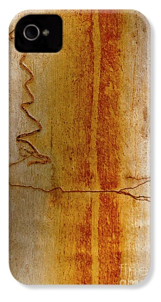 IPhone 4 Case featuring the photograph Scribbly Gum Bark by Werner Padarin