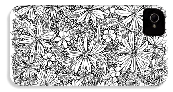 Sea Of Flowers And Seeds At Night Horizontal IPhone 4 / 4s Case by Tamara Kulish