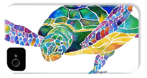 Sea Turtle Celebration 4 Prints Only IPhone 4 Case by Jo Lynch