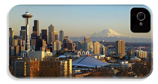 Seattle Cityscape IPhone 4 Case