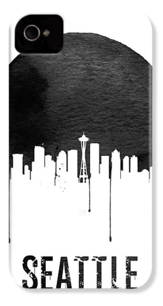 Seattle Skyline White IPhone 4 Case