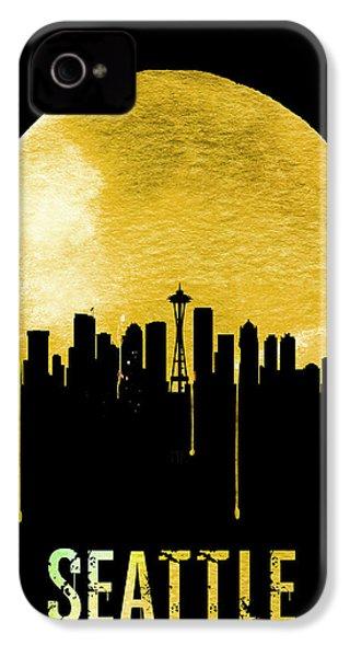 Seattle Skyline Yellow IPhone 4 Case