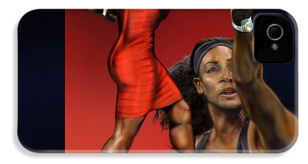Sensuality Under Extreme Power - Serena The Shape Of Things To Come IPhone 4 Case by Reggie Duffie
