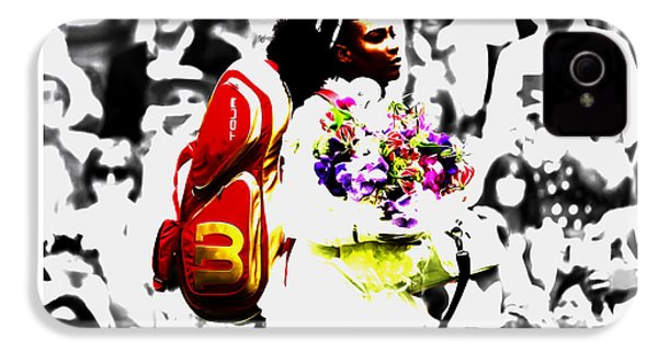 Serena Williams 2f IPhone 4 Case by Brian Reaves