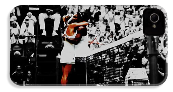 Serena Williams And Angelique Kerber IPhone 4 Case by Brian Reaves