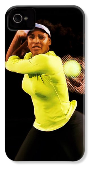 Serena Williams Bamm IPhone 4 Case by Brian Reaves