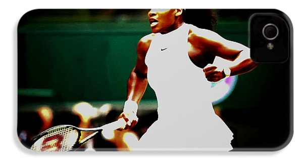 Serena Williams Making History IPhone 4 / 4s Case by Brian Reaves