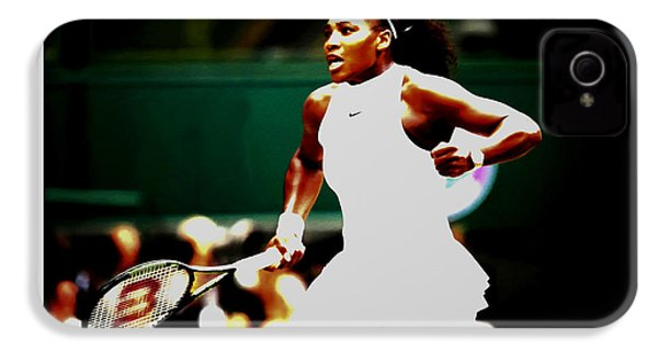 Serena Williams Making History IPhone 4 Case by Brian Reaves