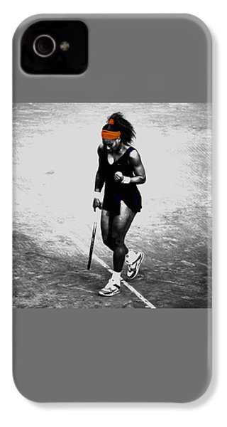 Serena Williams Match Point 3a IPhone 4 Case by Brian Reaves