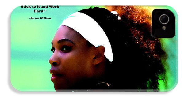 Serena Williams Motivational Quote 1a IPhone 4 Case by Brian Reaves