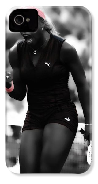 Serena Williams On Fire IPhone 4 Case by Brian Reaves