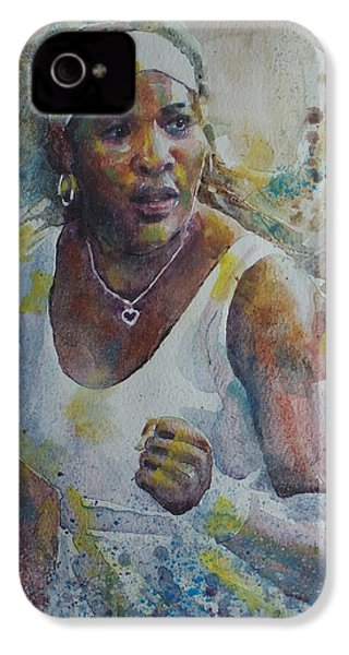 Serena Williams - Portrait 5 IPhone 4 / 4s Case by Baresh Kebar - Kibar