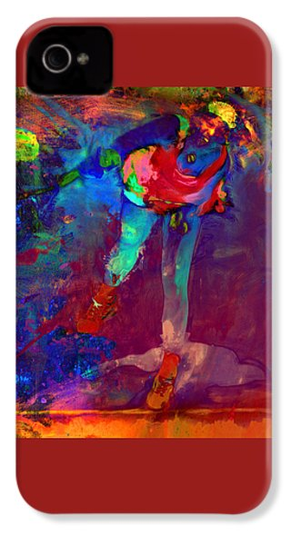 Serena Williams Return Explosion IPhone 4 Case by Brian Reaves