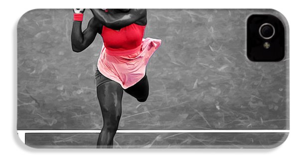 Serena Williams Strong Return IPhone 4 / 4s Case by Brian Reaves