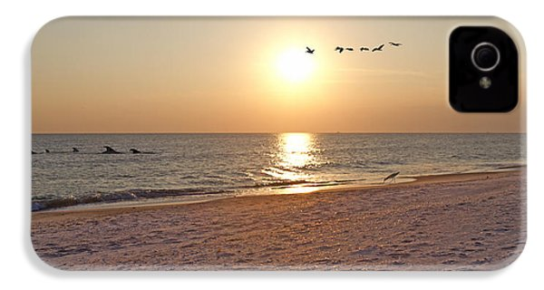Shackleford Banks Sunset IPhone 4 Case by Betsy Knapp