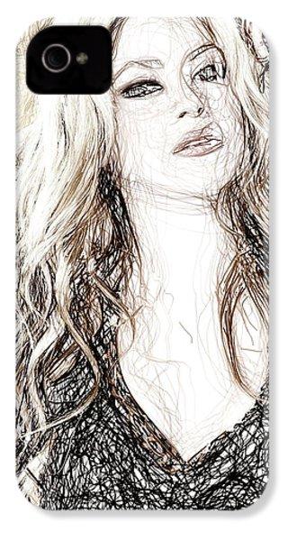 Shakira - Pencil Art IPhone 4 Case