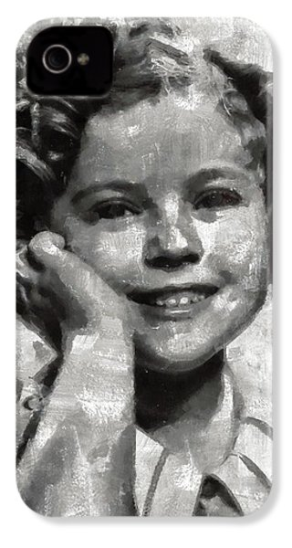Shirley Temple By Mary Bassett IPhone 4 Case by Mary Bassett