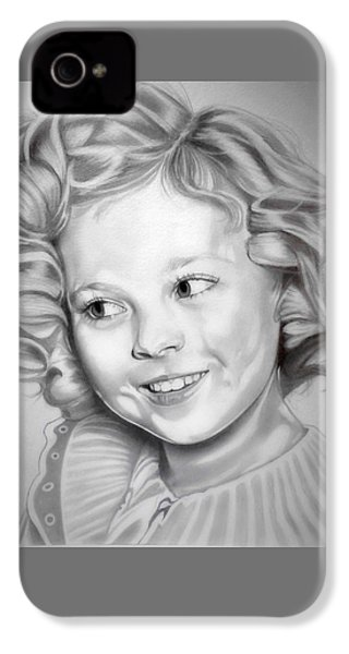 Shirley Temple IPhone 4 Case by Fred Larucci