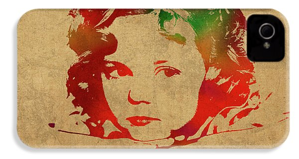 Shirley Temple Watercolor Portrait IPhone 4 Case by Design Turnpike