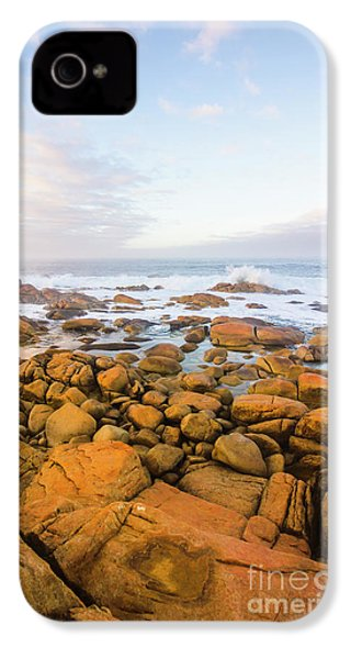 IPhone 4 Case featuring the photograph Shore Calm Morning by Jorgo Photography - Wall Art Gallery