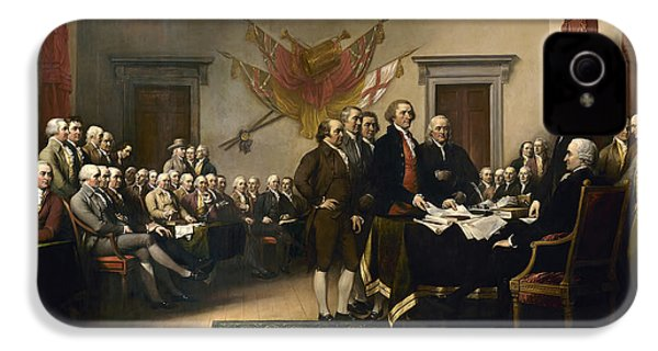 Signing The Declaration Of Independence IPhone 4 Case by War Is Hell Store