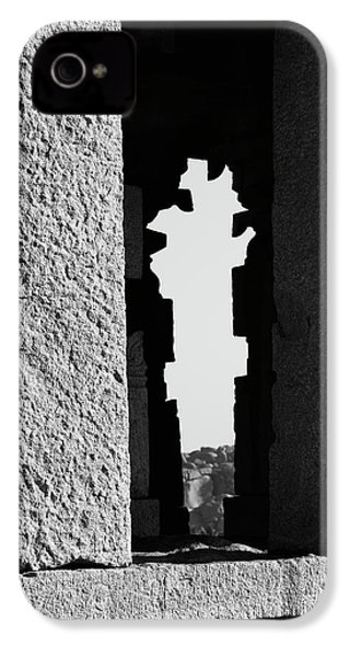 IPhone 4 Case featuring the photograph Silhouette Of Pillars, Hampi, 2017 by Hitendra SINKAR