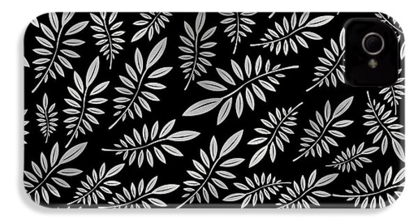 Silver Leaf Pattern 2 IPhone 4 Case by Stanley Wong