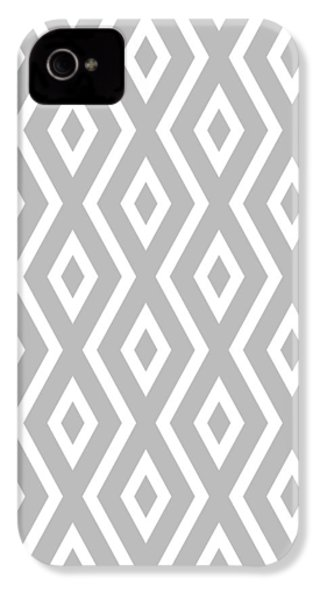 IPhone 4 Case featuring the mixed media Silver Pattern by Christina Rollo