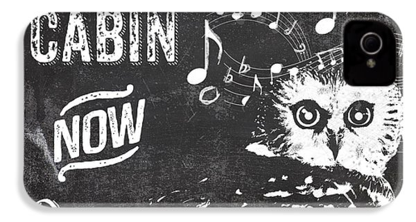 Singing Owl Cabin Rustic Sign IPhone 4 Case by Mindy Sommers