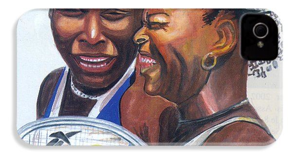 Sisters Williams IPhone 4 Case by Emmanuel Baliyanga