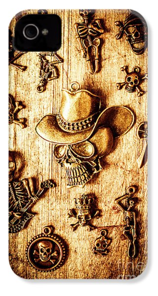 IPhone 4 Case featuring the photograph Skeleton Pendant Party by Jorgo Photography - Wall Art Gallery