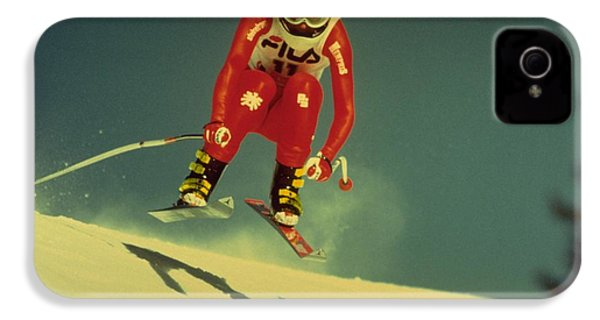 Skiing In Crans Montana IPhone 4 Case