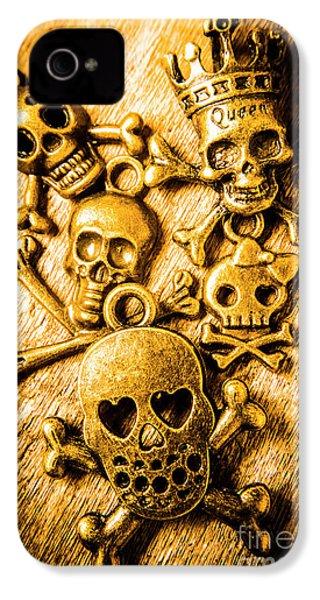 IPhone 4 Case featuring the photograph Skulls And Crossbones by Jorgo Photography - Wall Art Gallery