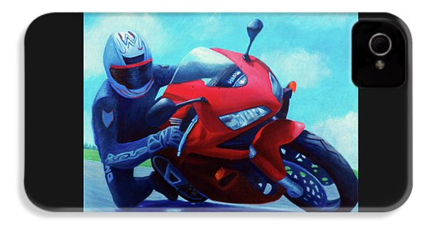 Sky Pilot - Honda Cbr600 IPhone 4 Case by Brian  Commerford