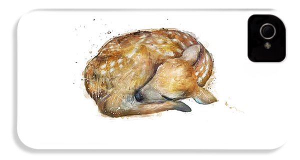 Sleeping Fawn IPhone 4 Case by Amy Hamilton