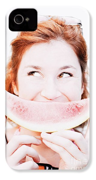 Smiling Summer Snack IPhone 4 Case by Jorgo Photography - Wall Art Gallery