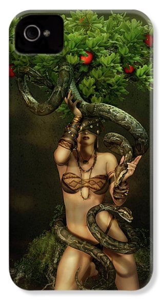 Snake Charmer IPhone 4 Case by Shanina Conway