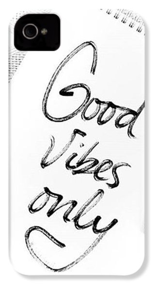 Good Vibes Only IPhone 4 Case