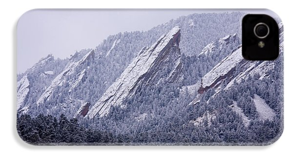 Snow Dusted Flatirons Boulder Colorado IPhone 4 Case by James BO  Insogna