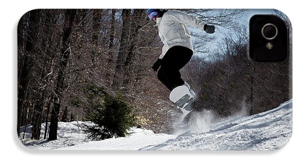 IPhone 4 Case featuring the photograph Snowboarding Mccauley Mountain by David Patterson