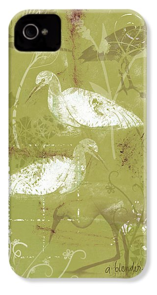 Snowy Egrets IPhone 4 Case by Arline Wagner