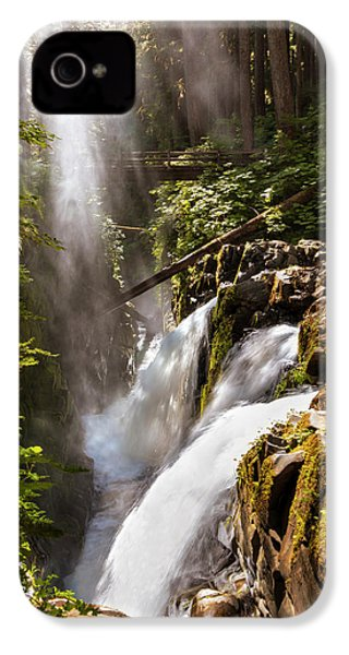 IPhone 4 Case featuring the photograph Sol Duc Falls by Adam Romanowicz