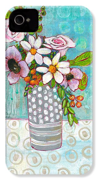 Sophia Daisy Flowers IPhone 4 Case by Blenda Studio