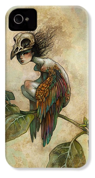 Soul Of A Bird IPhone 4 Case by Caroline Jamhour