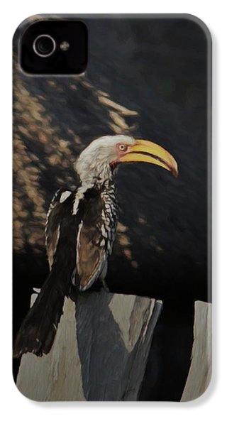 Southern Yellow Billed Hornbill IPhone 4 Case by Ernie Echols