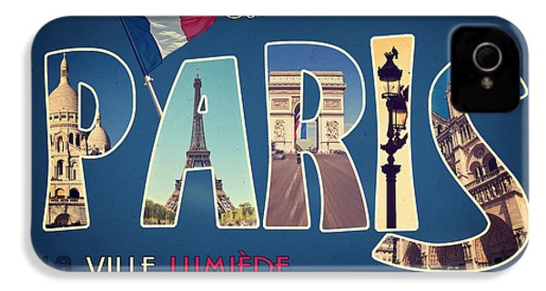 Souvernirs De Paris IPhone 4 Case by Delphimages Photo Creations