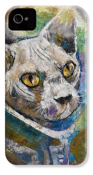 Space Cat IPhone 4 / 4s Case by Michael Creese