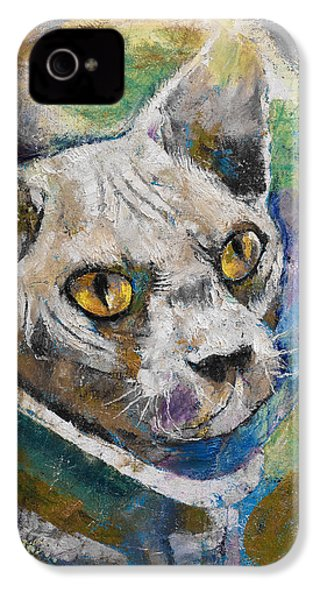 Space Cat IPhone 4 Case by Michael Creese